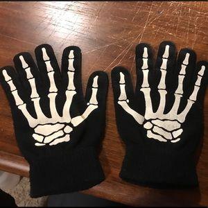 H&M Brand Skelton Hand Mittens